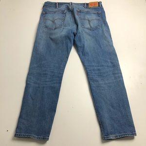 Levi's 505 Mens Blue Jeans 38x30 Straight Cut